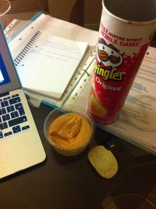 A perfectly acceptable dinner when spending an evening learning how to build a website.